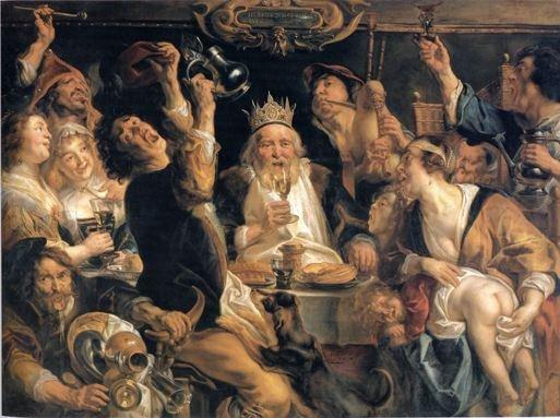 jacob jordaens de koning drinkt